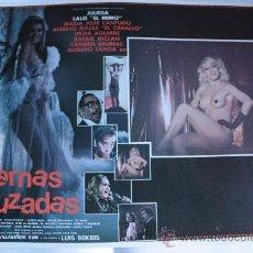 Cine: PIERNAS CRUZADAS 1984 MARIA JOSE CANTUDO SEXY ALFREDO LANDA (LOBBY CARD ORIGINAL). Lote 26012723