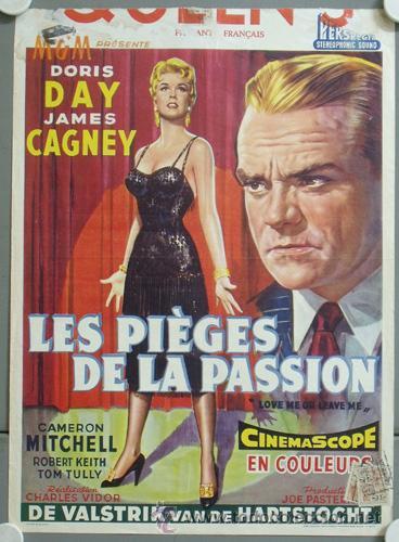 KMP 806D LOVE ME OR LEAVE ME DORIS DAY JAMES CAGNEY POSTER ORIGINAL BELGA 36X49 (Cine - Posters y Carteles - Musicales)
