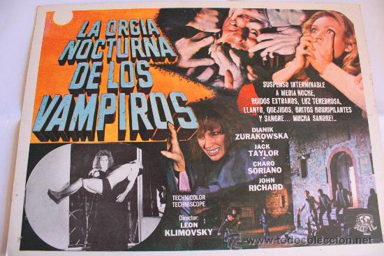 LA ORGIA NOCTURNA DE LOS VAMPIROS 1973 (LOBBY CARD ORIGINAL) TERROR ESPAÑOL VAMPIROS (Cine - Posters y Carteles - Terror)