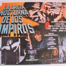 Cine: LA ORGIA NOCTURNA DE LOS VAMPIROS 1973 (LOBBY CARD ORIGINAL) TERROR ESPAÑOL VAMPIROS. Lote 26148119