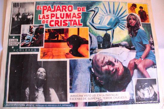 EL PAJARO DE LAS PLUMAS DE CRISTAL 1970 (LOBBY CARD ORIGINAL) GIALLO DE CULTO DARIO ARGENTO (Cine - Posters y Carteles - Terror)