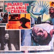 Cine: EL PAJARO DE LAS PLUMAS DE CRISTAL 1970 (LOBBY CARD ORIGINAL) GIALLO DE CULTO DARIO ARGENTO. Lote 26148135