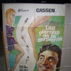 Cine: LAS PIERNAS DE LA SERPIENTE CASSEN POSTER ORIGINAL 70X100. Lote 26922777
