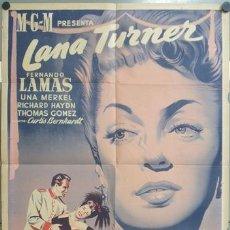 Cine: KMP 412D LA VIUDA ALEGRE LANA TURNER FERNANDO LAMAS POSTER ORIGINAL 70X100 ESTRENO LITOGRAFIA. Lote 22810264