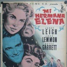 Cine: KMP 434D MI HERMANA ELENA BETTY GARRETT JANET LEIGH LEMMON POSTER ORIGINAL 70X100 LITOGRAFIA. Lote 22812175