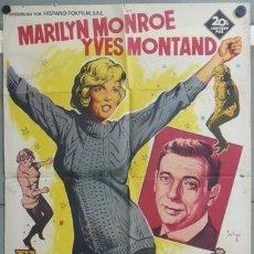 Cine: KMP 437 EL MULTIMILLONARIO MARILYN MONROE SOLIGO POSTER ORIGINAL 70X100 LITOGRAFIA. Lote 22812573