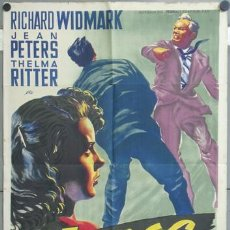 Cine: KMP 441D MANOS PELIGROSAS RICHARD WIDMARK JEAN PETERS SOLIGO POSTER ORIGINAL 70X100 LITOGRAFIA. Lote 22813247