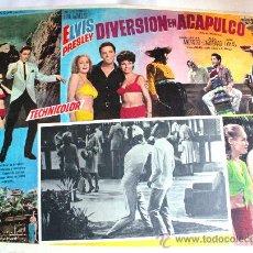 Cine: EL IDOLO DE ACAPULCO 1963 (DIVERSION EN ACAPULCO) ELVIS PRESLEY (ESPECTACULAR LOBBY CARD ORIGINAL). Lote 134105690