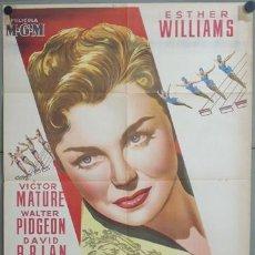 Cine: KMP 446D LA PRIMERA SIRENA ESTHER WILLIAMS VICTOR MATURE POSTER ORIGINAL 70X100 LITOGRAFIA. Lote 22814288