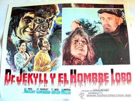 DR. JEKYLL Y EL HOMBRE LOBO 1972(ESPECTACULAR LOBBY CARD ORIGINAL) TERROR DE CULTO PAUL NASCHY (Cine - Posters y Carteles - Terror)