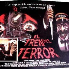 Cine: EL TREN DEL TERROR 1980 (ESPECTACULAR LOBBY CARD ORIGINAL) JAMIE LEE CURTIS - BEN JOHNSON. Lote 26148122