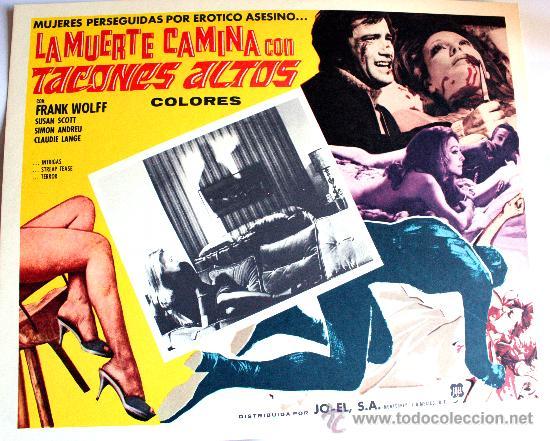LA MUERTE CAMINA CON TACON ALTO 1972 (LOBBY CARD ORIGINAL) GIALLO DE CULTO LUCIANO ERCOLI (Cine - Posters y Carteles - Terror)