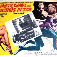 Cine: LA MUERTE CAMINA CON TACON ALTO 1972 (LOBBY CARD ORIGINAL) GIALLO DE CULTO LUCIANO ERCOLI. Lote 26477127