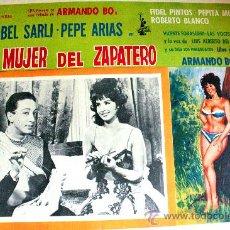 Cine: LA MUJER DEL ZAPATERO 1965(LOBBY CARD ORIGINAL) CON LA SEX SYMBOL ARGENTINA ISABEL SARLI ARMANDO BO. Lote 25071824