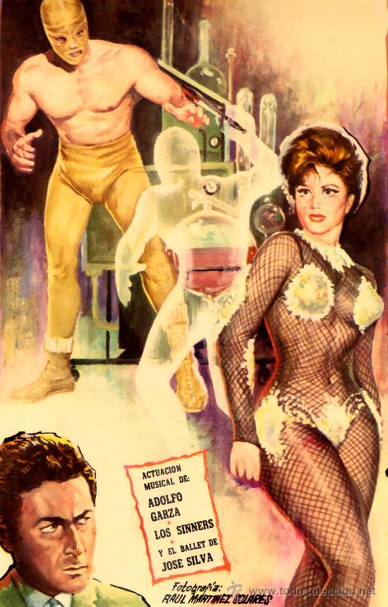 Cine: EL ASESINO INVISIBLE 1964 EL ENMASCARADO DE ORO (LOBBY CARD ORIGINAL) ANA BERTHA LEPE - Foto 2 - 25071809