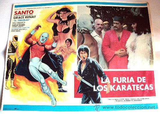 LA FURIA DE LOS KARATECAS 1982 (SANTO EL ENMASCARADO DE PLATA) (LOBBY CARD ORIGINAL) (Cine - Posters y Carteles - Acción)