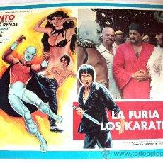 Cine: LA FURIA DE LOS KARATECAS 1982 (SANTO EL ENMASCARADO DE PLATA) (LOBBY CARD ORIGINAL). Lote 26012720