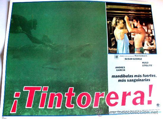 TINTORERA 1977 (ESPECTACULAR LOBBY CARD ORIGINAL) SUSAN GEORGE (Cine - Posters y Carteles - Suspense)