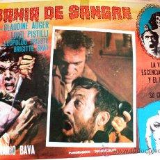 Cine: BAHIA DE SANGRE 1971 ( LOBBY CARD ORIGINAL) GIALLO DE CULTO DEL MAESTRO DEL TERROR MARIO BAVA. Lote 26477125