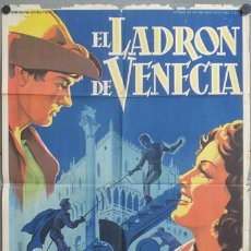 Cine: KMP 461D EL LADRON DE VENECIA MARIA MONTEZ SOLIGO POSTER ORIGINAL ESTRENO 70X100 LITOGRAFIA. Lote 22825158