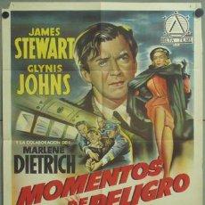 Cine: KMP 483D MOMENTOS DE PELIGRO MARLENE DIETRICH JAMES STEWART POSTER ORIG 70X100 LITOGRAFIA ESTRENO. Lote 22826741