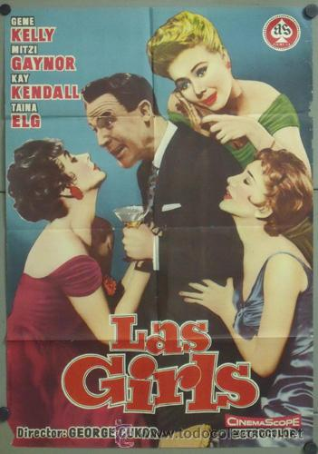 KMP 484D LAS GIRLS GENE KELLY KAY KENDALL GEORGE CUKOR POSTER ORIGINAL ESTRENO 70X100 (Cine - Posters y Carteles - Musicales)