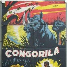 Cine: ZL97D CONGORILA DOCUMENTAL AFRICA POSTER ORIGINAL ESTRENO 70X100 LITOGRAFIA. Lote 22849475