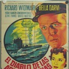 Cine: NC84 EL DIABLO DE LAS AGUAS TURBIAS RICHARD WIDMARK POSTER ORIGINAL ESTRENO SOLIGO 70X100 LITOGRAFIA. Lote 22852942