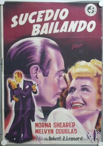CCJ KMP 530D SUCEDIO BAILANDO NORMA SHEARER POSTER ORIGINAL 70X100 ESTRENO LITOGRAFIA (Cine - Posters y Carteles - Musicales)