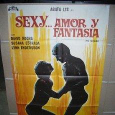Cine: SEXY AMOR Y FANTASIA AGATA LYS SOLIGO POSTER ORIGINAL 70X100 YY (448). Lote 22850263
