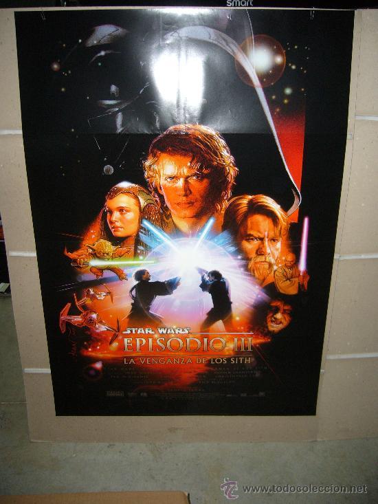 STAR WARS EPISODIO III LA VENGANZA DE LOS SITH POSTER ORIGINAL ESTRENO 70X100 (Cine - Posters y Carteles - Ciencia Ficción)