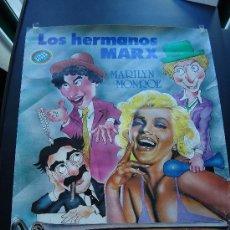 Cine: CARTEL DE LA PELÍCULA, AMOR EN CONSERVA, 45X35 CTS. HERMANOS MARX, Y MARILYN MONROE.. Lote 25590089