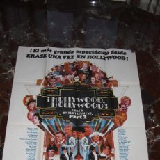 Cine: CARTEL HOLLYWOOD HOLLYWOOD FRED ASTAIRE GENE KELLY 1977 100X70. Lote 52357955