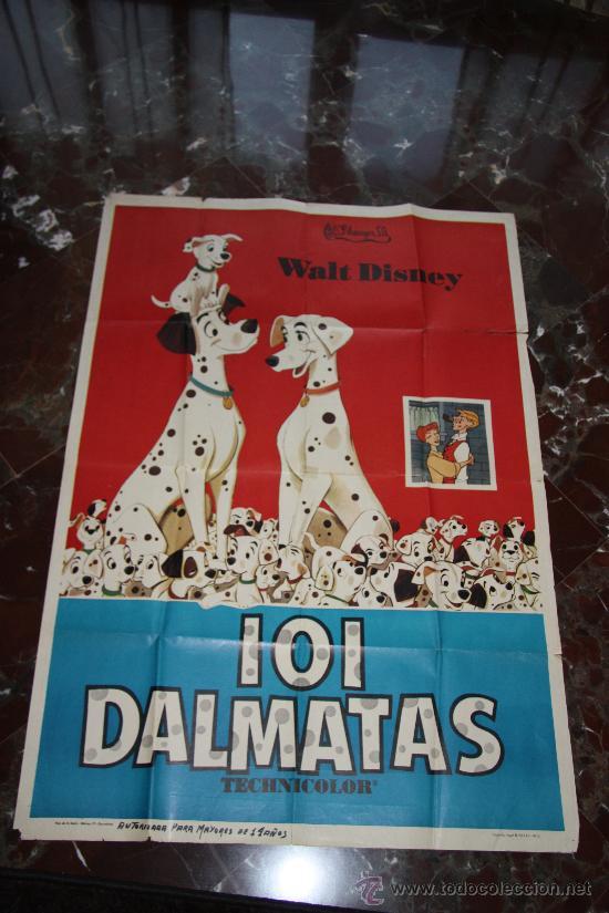 CARTEL 101 DALMATAS 1972 WALT DISNEY 100X70 (Cine - Posters y Carteles - Infantil)