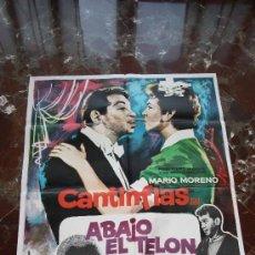 Cine: CARTEL ABAJO EL TELON CANTINFLAS 100X70. Lote 181498461