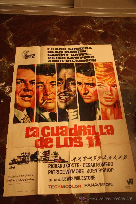 LA CUADRILLA DE LOS ONCE, CARTEL 1972 JANO FRANK SINATRA DEAN MARTIN (Cine - Posters y Carteles - Suspense)