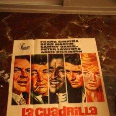 Cine: LA CUADRILLA DE LOS ONCE, CARTEL 1972 JANO FRANK SINATRA DEAN MARTIN. Lote 23011014
