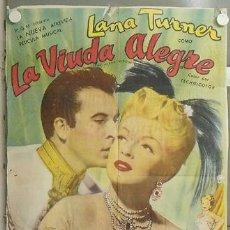 Cine: KMP 607D LA VIUDA ALEGRE LANA TURNER FERNANDO LAMAS POSTER ORIGINAL ARGENTINO 75X110. Lote 23108779