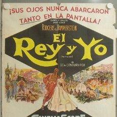 Cine: KMP 616D EL REY Y YO YUL BRYNNER DEBORAH KERR POSTER ORIGINAL ARGENTINO 75X110 LITOGRAFIA. Lote 23109239