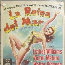 Cine: KMP 626D LA PRIMERA SIRENA ESTHER WILLIAMS VICTOR MATURE POSTER ORIGINAL ARGENTINO 75X110 LITOGRAFIA. Lote 23109672