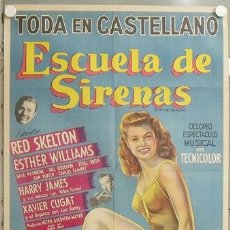 Cine: KMP 632D ESCUELA DE SIRENAS ESTHER WILLIAMS POSTER ORIGINAL ARGENTINO 75X110 LITOGRAFIA. Lote 23118991