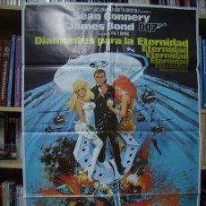 Cine: DIAMANTES PARA LA ETERNIDAD, CON SEAN CONNERY. POSTER. 70 X 100 CMS. 1983.. Lote 235015539