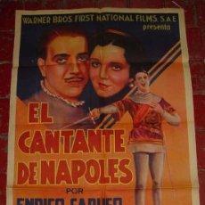 Cine: ANTIGUO CARTEL DE LA PELICULA EL CANTANTE DE NAPOLES - POR ENRICO CARUSO (HIJO), MONA MARIS, CARMEN . Lote 26518028