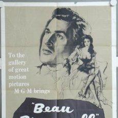 Cine: KMP 679D BEAU BRUMMELL ELIZABETH TAYLOR STEWART GRANGER POSTER ORIGINAL AMERICANO 70X105. Lote 23139191