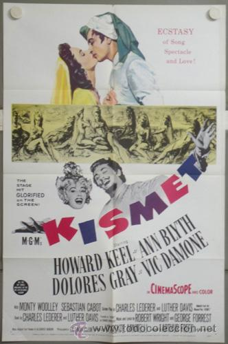KMP 683D KISMET VINCENTE MINNELLI ANN BLYTH HOWARD KEEL POSTER ORIGINAL AMERICANO 70X105 (Cine - Posters y Carteles - Musicales)