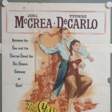 Cine: KMP 712D SAN FRANCISCO STORY YVONNE DE CARLO JOEL MCCREA POSTER ORIGINAL AMERICANO 70X105. Lote 23144171