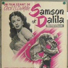 Cine: XB51D SANSON Y DALILA CECIL B. DEMILLE HEDY LAMARR VICTOR MATURE POSTER ORIGINAL FRANCES 60X80. Lote 23174911