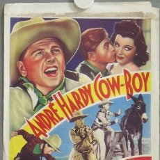 Cine: XJ83D MICKEY ROONEY ANDRES HARVEY OUT WEST WITH THE HARDYS POSTER ORIGINAL BELGA 29X39. Lote 23261088