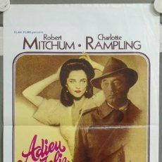 Cine: ND50 ADIOS MUÑECA ROBERT MITCHUM CHARLOTTE RAMPLING RAYMOND CHANDLER POSTER ORIGINAL BELGA 36X55. Lote 23263253