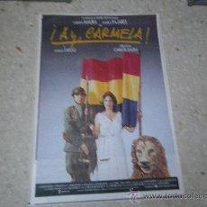 Cine: CARTEL ORIGINAL. ¡AY CARMELA, CARMEN MAURA, PAJARES, ORIGINAL 1990.. Lote 24898980